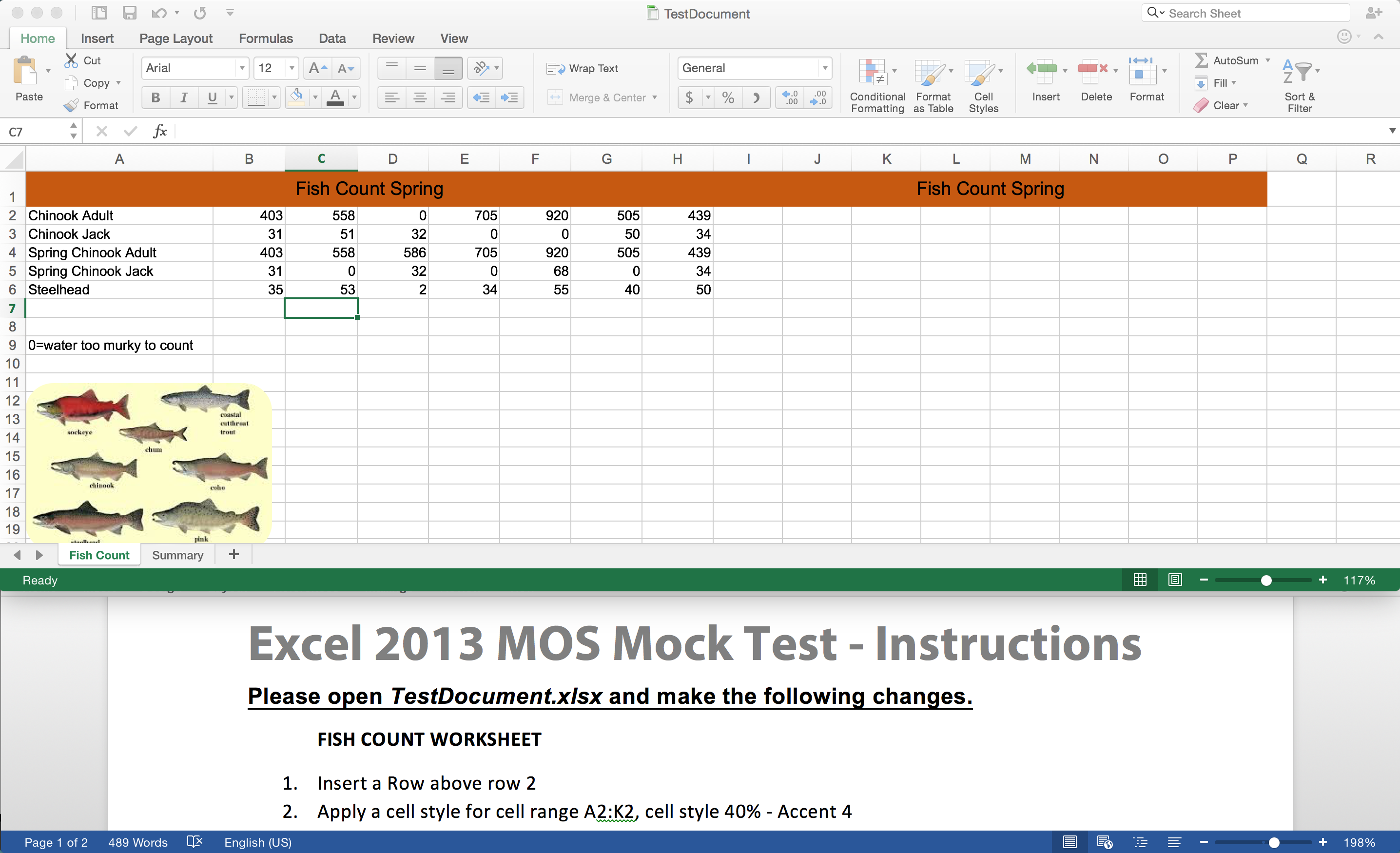 Excel 2013 Mock Mos Test King County Library System
