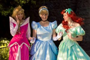 Disney Princesses Aurora, Cinderella and Ariel