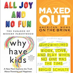 Cover collage of parenthood books