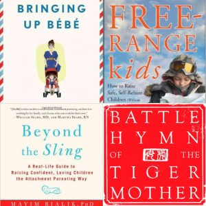 Cover collage of books on different parenting styles
