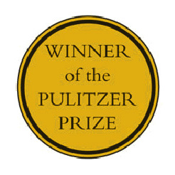 Illustrated medal labeled: Winner of the Pulitzer Prize