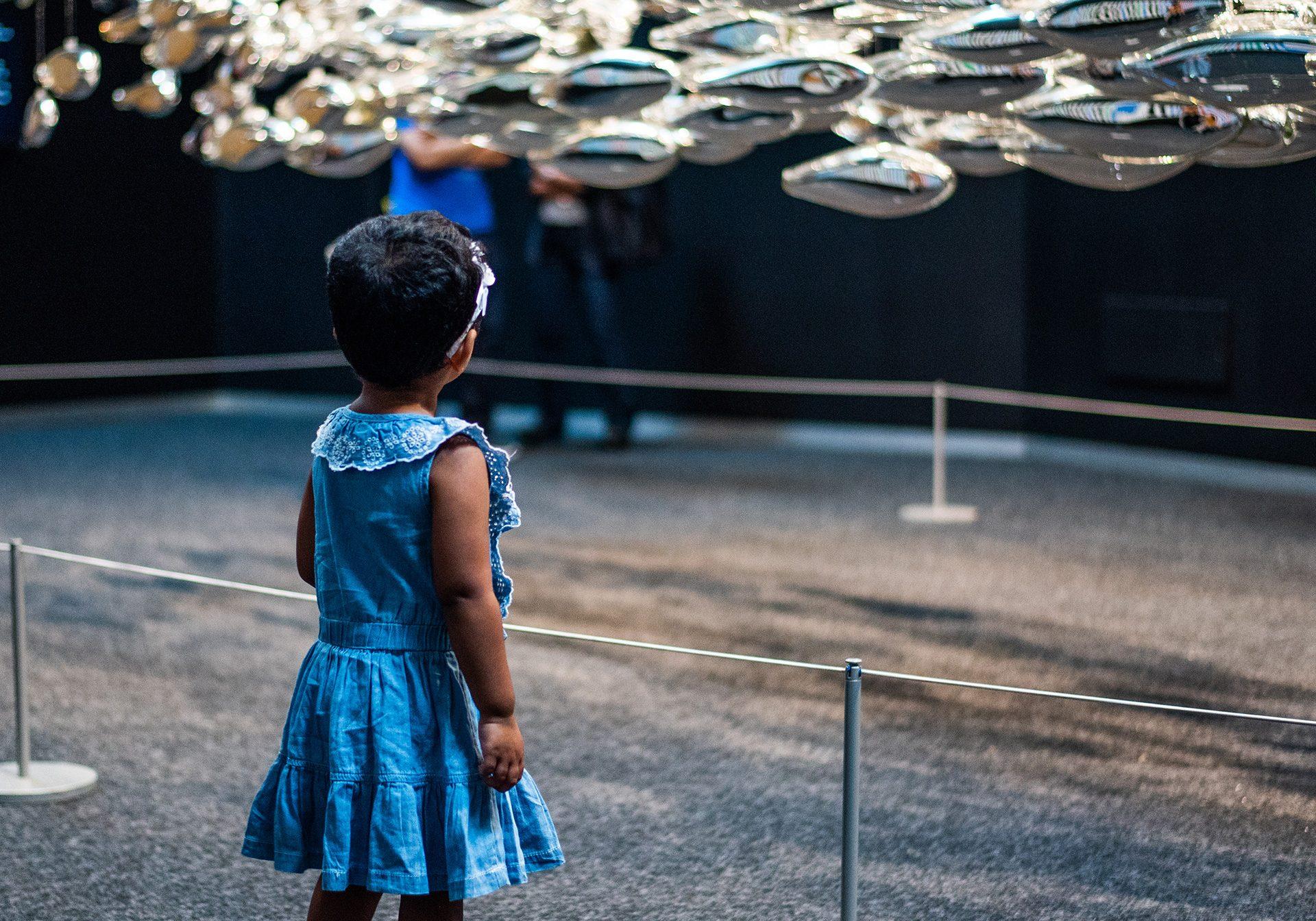 Guest exploring BAM gallery